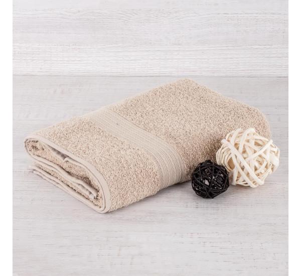 Полотенце махровое БЕЖЕВОЕ   (50х90)