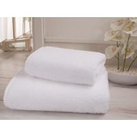 Полотенце махровое белое гостиничное Премиум  (50х100)