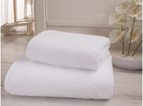 Полотенце махровое белое гостиничное Премиум