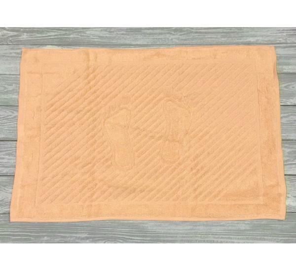 """Полотенце махровое """"ножки""""   (50х70) ПЕРСИКОВОЕ"""