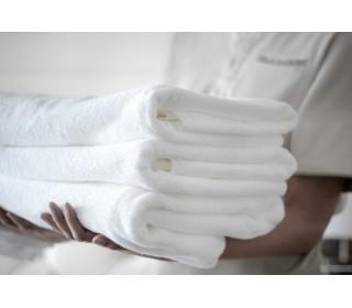 Полотенце махровое белое гостиничное   (40х70)