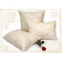 Подушка из лебяжьего пуха   (60х60) чехол-тик