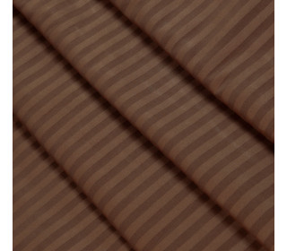 Наволочка страйп-сатин с ушками ШОКОЛАД   (70х70)