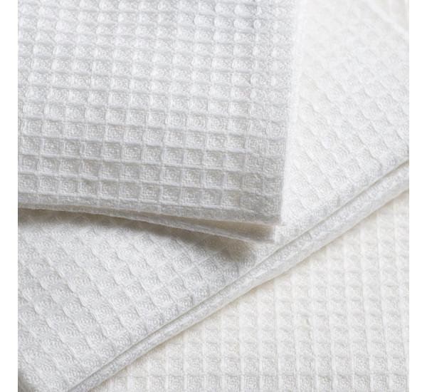 Полотенце вафельное белое 140г/м2   (40х80)